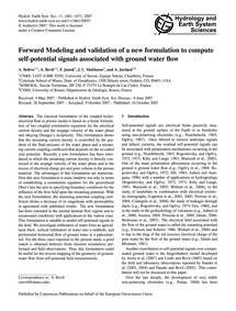 Forward Modeling and Validation of a New... by Bolève, A.