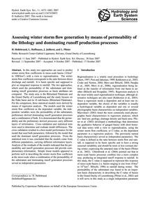 Assessing Winter Storm Flow Generation b... by Hellebrand, H.