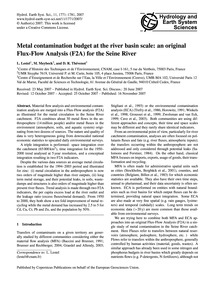 Metal Contamination Budget at the River ... by Lestel, L.
