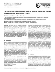 Technical Note: Determination of the Scs... by Baltas, E. A.