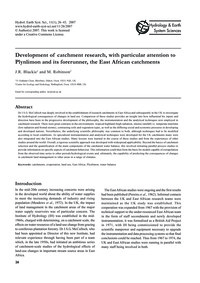 Development of Catchment Research, with ... by Blackie, J. R.