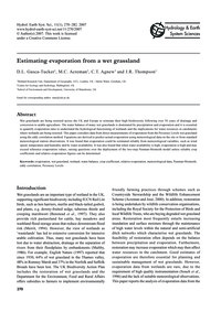 Estimating Evaporation from a Wet Grassl... by Gasca-tucker, D. L.