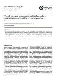 Towards Integrated Environmental Models ... by Beven, K.