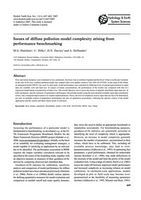 Issues of Diffuse Pollution Model Comple... by Hutchins, M. G.