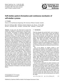 Self-similar Pattern Formation and Conti... by Dyskin, A. V.