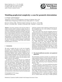 Modeling Geophysical Complexity: a Case ... by Puente, C. E.