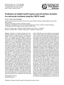 Predictions of Rainfall-runoff Response ... by Lee, H.