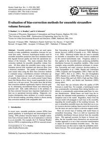 Evaluation of Bias-correction Methods fo... by Hashino, T.