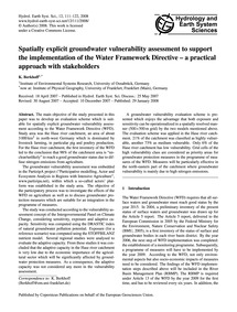 Spatially Explicit Groundwater Vulnerabi... by Berkhoff, K.