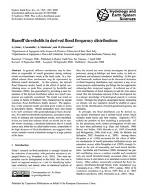 Runoff Thresholds in Derived Flood Frequ... by Gioia, A.