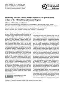 Predicting Land-use Change and Its Impac... by Dams, J.
