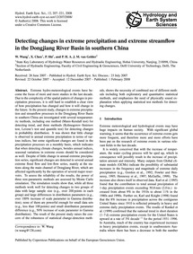 Detecting Changes in Extreme Precipitati... by Wang, W.