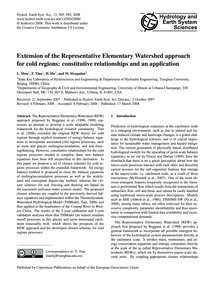 Extension of the Representative Elementa... by Mou, L.