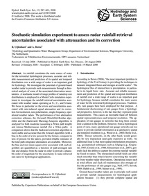 Stochastic Simulation Experiment to Asse... by Uijlenhoet, R.