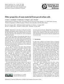 Filter Properties of Seam Material from ... by Nehls, T.