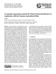 Co-operative Agreements and the Eu Water... by Heinz, I.