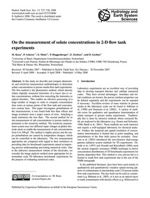 On the Measurement of Solute Concentrati... by Konz, M.