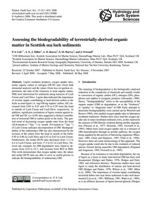 Assessing the Biodegradability of Terres... by Loh, P. S.
