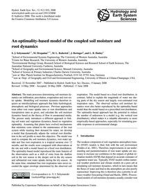 An Optimality-based Model of the Coupled... by Schymanski, S. J.