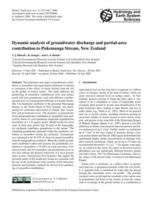Dynamic Analysis of Groundwater Discharg... by Bidwell, V. J.