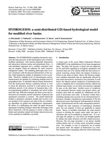Hydrogeios: a Semi-distributed Gis-based... by Efstratiadis, A.
