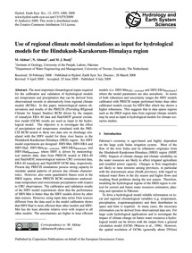 Use of Regional Climate Model Simulation... by Akhtar, M.