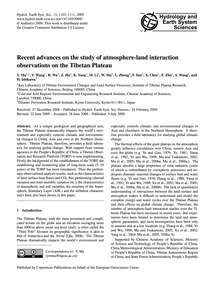 Recent Advances on the Study of Atmosphe... by Ma, Y.