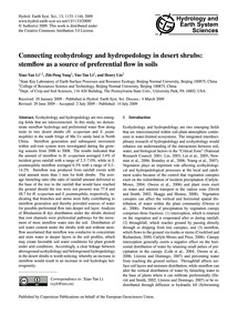 Connecting Ecohydrology and Hydropedolog... by Xiao-yan Li