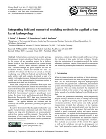 Integrating Field and Numerical Modeling... by Epting, J.