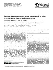 Retrieval of Canopy Component Temperatur... by Timmermans, J.