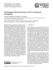 The European Flood Alert System – Part 1... by Thielen, J.