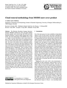 Cloud Removal Methodology from Modis Sno... by Gafurov, A.
