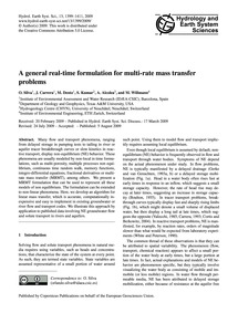 A General Real-time Formulation for Mult... by Silva, O.