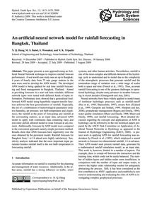 An Artificial Neural Network Model for R... by Hung, N. Q.