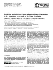 Combining Semi-distributed Process-based... by Corzo, G. A.
