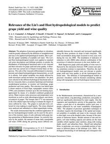 Relevance of the Lin's and Host Hydroped... by Costantini, E. A. C.