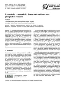 Dynamically Vs. Empirically Downscaled M... by Bürger, G.