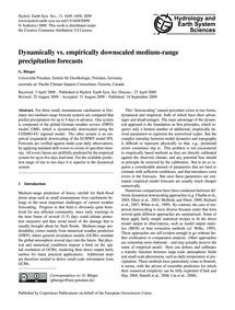 Dynamically Vs. Empirically Downscaled M... by Bürger, G.