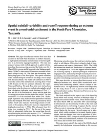Spatial Rainfall Variability and Runoff ... by Mul, M. L.