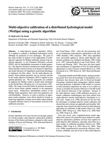 Multi-objective Calibration of a Distrib... by Shafii, M.