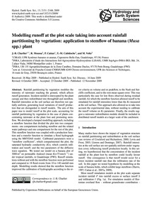 Modelling Runoff at the Plot Scale Takin... by Charlier, J.-b.