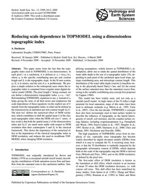 Reducing Scale Dependence in Topmodel Us... by Ducharne, A.