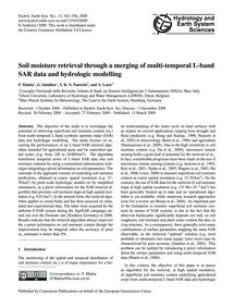 Soil Moisture Retrieval Through a Mergin... by Mattia, F.