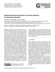 Spatial and Temporal Dynamics of Stream ... by Piatek, K. B.