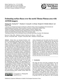 Estimating Surface Fluxes Over the North... by Ma, Weiqiang