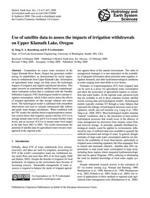 Use of Satellite Data to Assess the Impa... by Tang, Q.