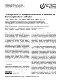 Diurnal Pattern of the Drying Front in D... by Zeng, Y.