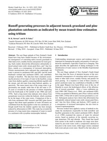 Runoff Generating Processes in Adjacent ... by Stewart, M. K.