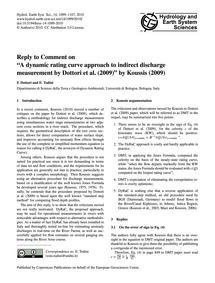 Reply to Comment on a Dynamic Rating Cur... by Dottori, F.