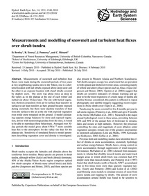 Measurements and Modelling of Snowmelt a... by Bewley, D.